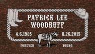 A marker for Patrick Lee Woodruff
