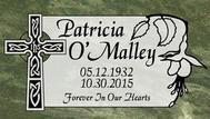 A marker for Patricia O'Malley