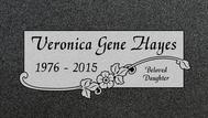A marker for Veronia Gene Hayes