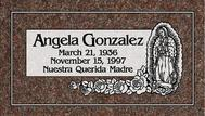 A marker for Angela Gonzales