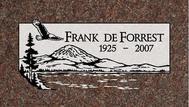 A marker for Frank DeForrest