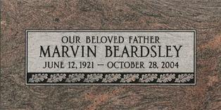 A marker for Marvin Beardsley
