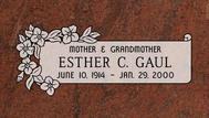 A marker for Esther Gaul