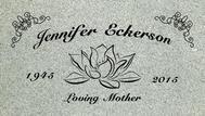 A marker for Jennifer Eckerson