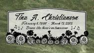 A marker for Tina Christianson