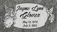A marker for Jayne Lynn Glover