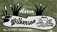 A marker for Aaron Wilkerson