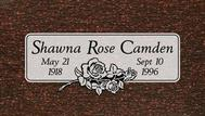 Another marker for Shawna Rose Camden