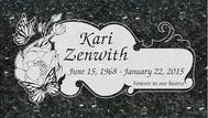 A marker for Kari Zenwith