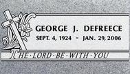 A marker for George Defreece