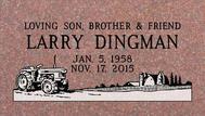 A marker for Larry Dingman