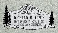 A marker for Richard Griffin
