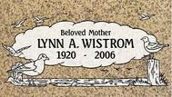 A marker for Lynn Wistrom