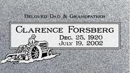 A marker for Clarence Forsberg