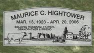 A marker for Maurice Hightower