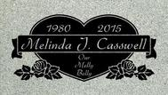 A marker for Melinda Casswell