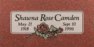 A marker for Shawna Rose Camden
