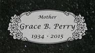 A marker for Grace Perry