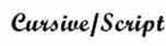 cursive-script - 1