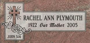 A marker for Rachel Ann Plymouth
