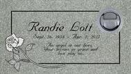 A marker for Randie Loll