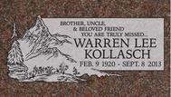 A marker for Warren Lee Kollasch