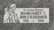 A marker for Margaret Bruckheimer