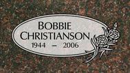 A marker for Bobbie Christianson