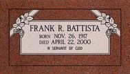 A marker for Frank Battista