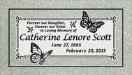 A marker for Catherine Lenore Scott