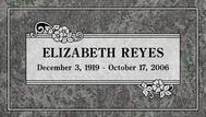 A marker for Elizabeth Reyes