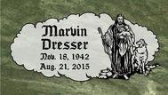 A marker for Marvin Dresser