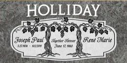 A companion marker for the Holliday couple