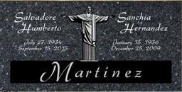 A companion marker for the Martinez couple