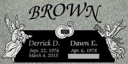 A companion marker for the Brown couple