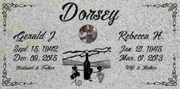 A companion marker for the Dorsey couple