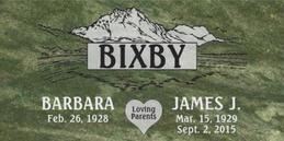 A companion marker for the Bixby couple