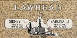 A companion marker for the Lawhead couple