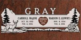 A companion marker for the Gray couple
