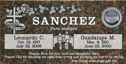 A companion marker for the Sanchez couple