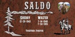 A companion marker for the Saldo couple