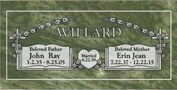A companion marker for the Willard couple