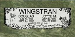 A companion marker for the Wingstran couple