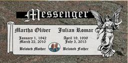 A companion marker for the Messenger couple