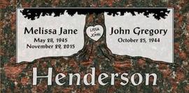 A companion marker for the Henderson couple