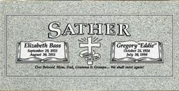 A companion marker for the Sather couple