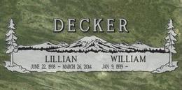 A companion marker for the Decker couple