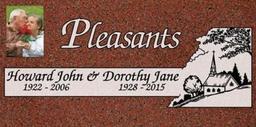 A companion marker for the Pleasants couple
