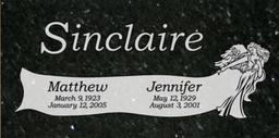 A companion marker for the Sinclaires