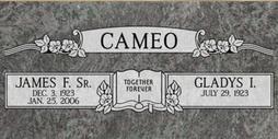 A companion marker for James and Glayds Cameo